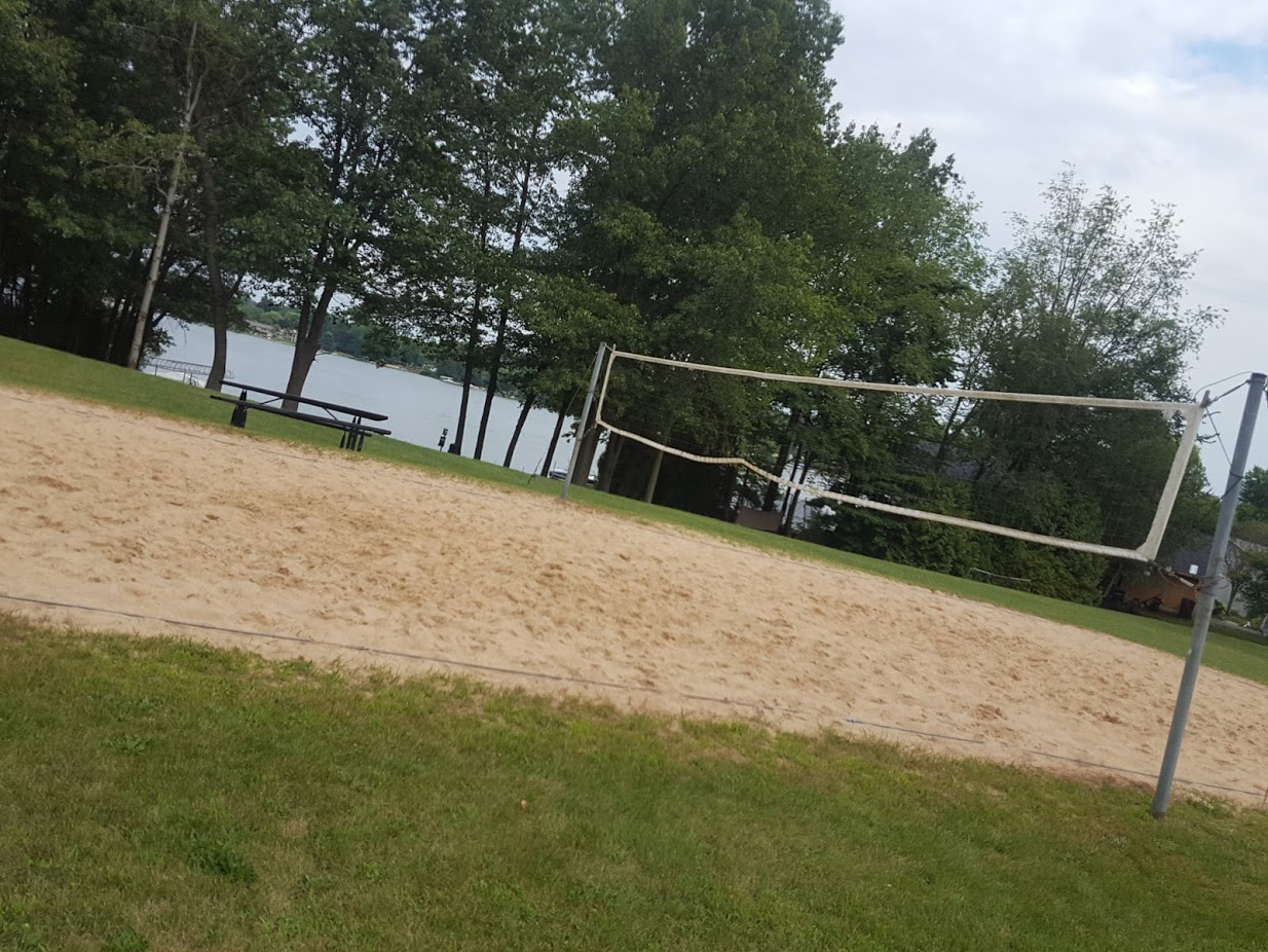 beach with volleyball